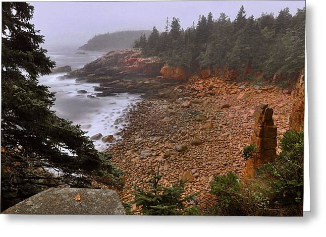 Mt Desert Island Greeting Cards - Monument Cove - Acadia Greeting Card by Stephen  Vecchiotti