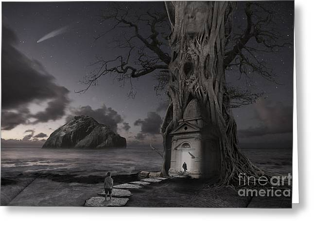 Surreal Photography Greeting Cards - Monument Greeting Card by Keith Kapple