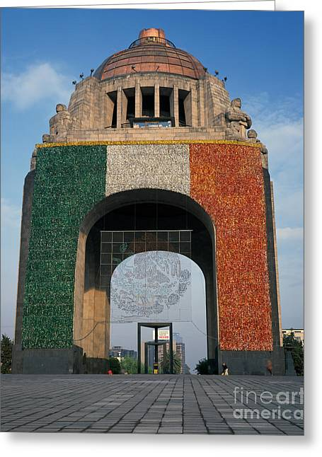 Mexico City Greeting Cards - Monument Of The Revolution Greeting Card by Rafael Macia