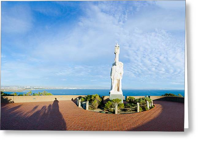 Point Loma Greeting Cards - Monument On The Coast, Cabrillo Greeting Card by Panoramic Images