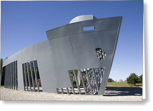New England Ocean Greeting Cards - Monument the Liberty ships Greeting Card by Jim  Wallace