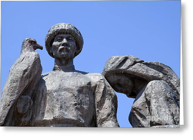 Martyr Greeting Cards - Monument to the Martyrs of the Revolution in Bishkek in Kyrgyzstan  Greeting Card by Robert Preston