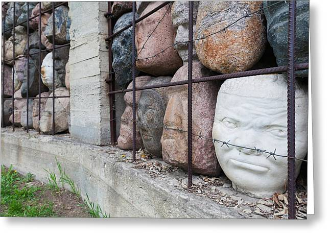Sculptors Greeting Cards - Monument To Victims Of Soviet-era Greeting Card by Panoramic Images