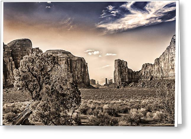 Duo Tone Greeting Cards - Monument Valley #2 Greeting Card by David Neely