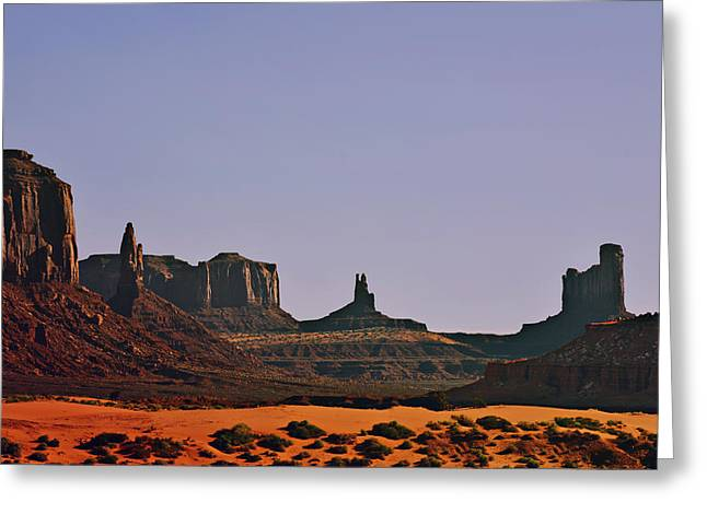 Left Greeting Cards - Monument Valley - an iconic landmark Greeting Card by Christine Till