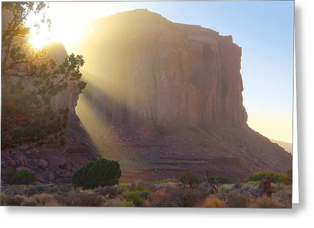 Formation Greeting Cards - Monument Valley at Sunset 2 Greeting Card by Mike McGlothlen
