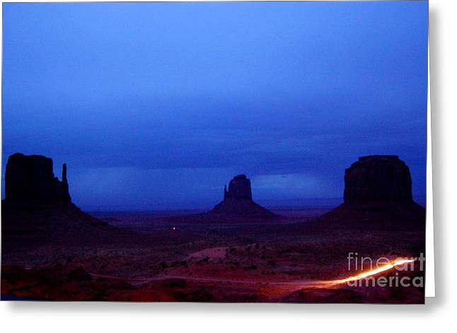The Western Hotel Greeting Cards - Monument Valley Awakens Greeting Card by C  Lythgo