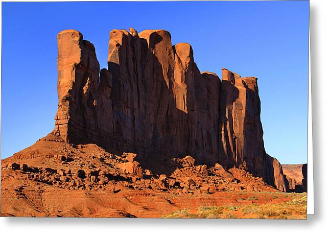 Monument Greeting Cards - Monument Valley - Camel Butte Greeting Card by Mike McGlothlen