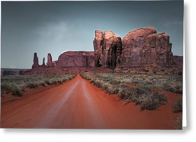 Cindy Rubin Greeting Cards - Monument Valley Greeting Card by Cindy Rubin
