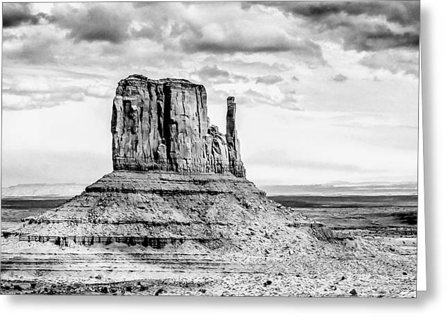 Reservations Drawings Greeting Cards - Monument Valley Greeting Card by John Haldane