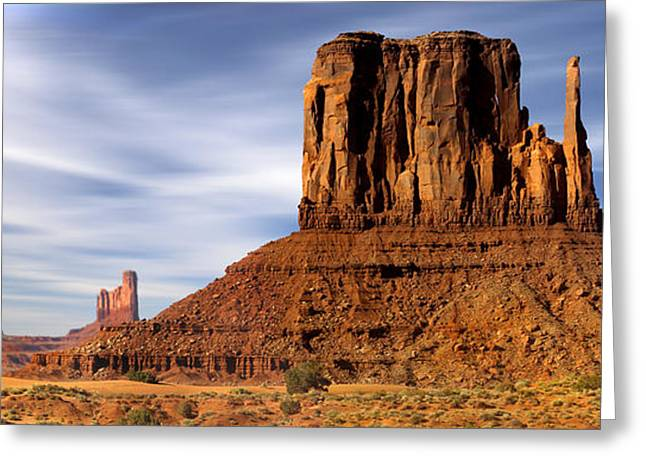 Sage Brush Greeting Cards - Monument Valley -  Left Mitten Greeting Card by Mike McGlothlen