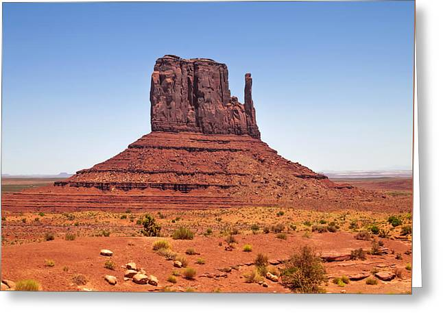 Geologic Greeting Cards - MONUMENT VALLEY West Mitten Butte Greeting Card by Melanie Viola