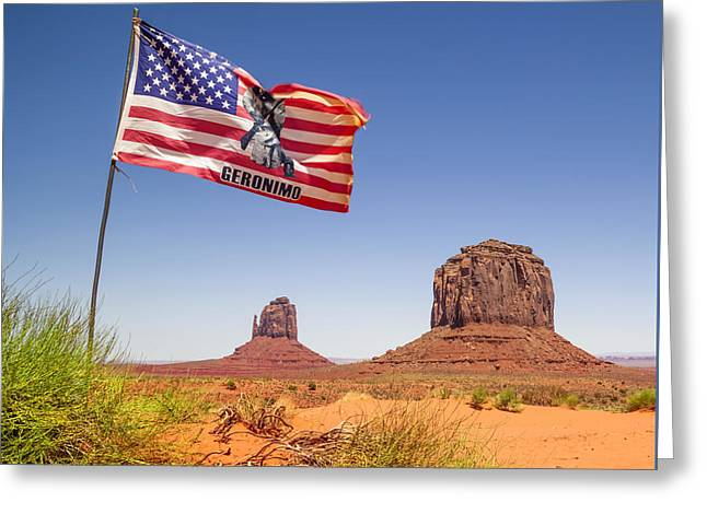 Star Valley Greeting Cards - MONUMENT VALLEY Merrick Butte Greeting Card by Melanie Viola