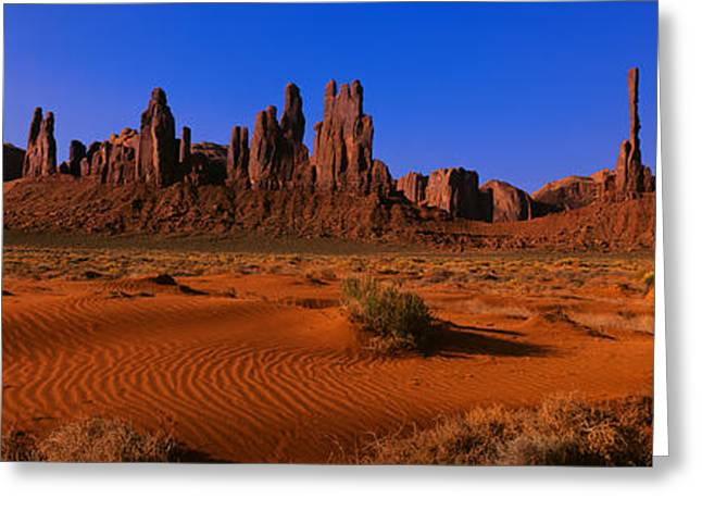 Navajo Tribal Park Greeting Cards - Monument Valley National Park, Arizona Greeting Card by Panoramic Images