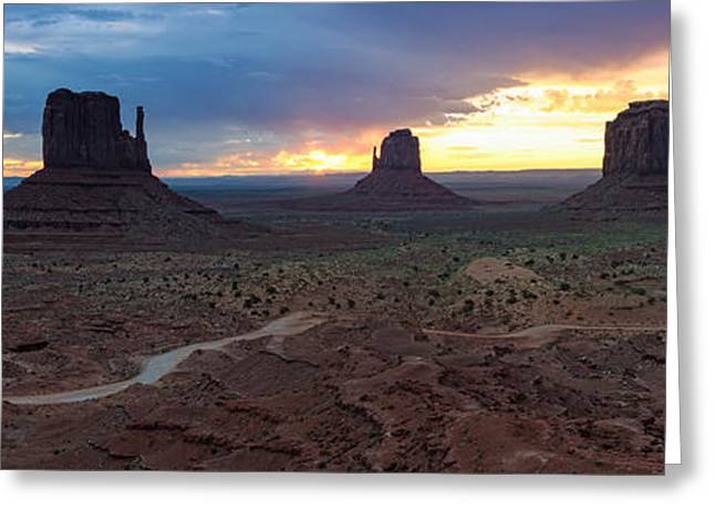 White Mittens Greeting Cards - Monument Valley Navajo Tribal Park An image worth more than a thousand words Greeting Card by Silvio Ligutti