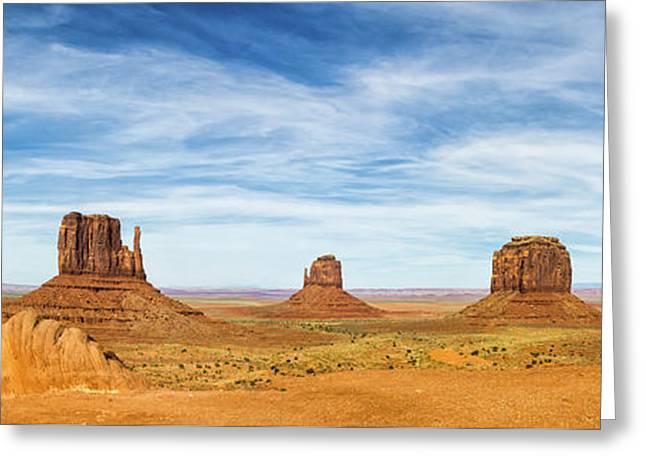 Monument Valley Panorama - Arizona Greeting Card by Brian Harig