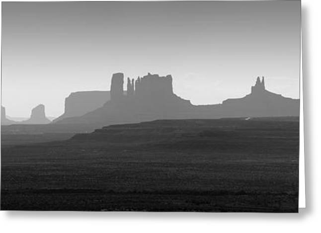 Dave Greeting Cards - Monument Valley Panorama I Greeting Card by David Gordon