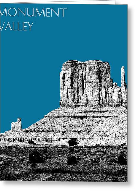 Arizona Posters Greeting Cards - Monument Valley - Steel Greeting Card by DB Artist