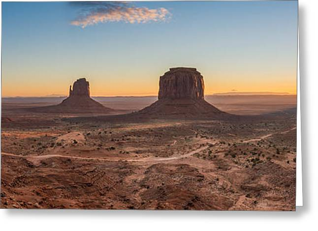 Warm Tones Greeting Cards - Monument Valley Sunrise Two Greeting Card by Josh Whalen