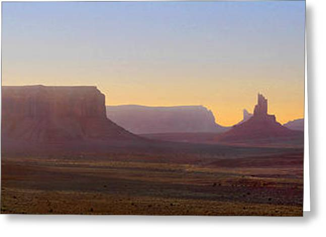 Formation Greeting Cards - Monument Valley Sunset 3 Greeting Card by Mike McGlothlen