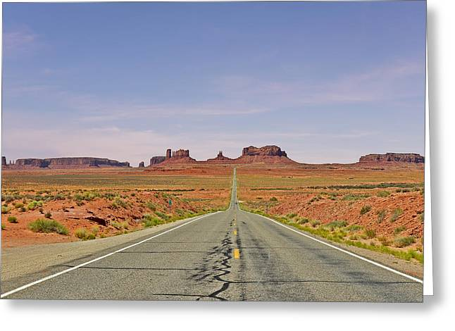 Navaho Greeting Cards - Monument Valley - The Classic View Greeting Card by Christine Till