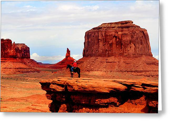 The Plateaus Digital Art Greeting Cards - Monument Valley Greeting Card by Tom Prendergast