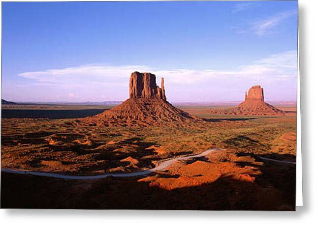 Red Rock Canyon Greeting Cards - Monument Valley Tribal Park, Arizona Greeting Card by Panoramic Images