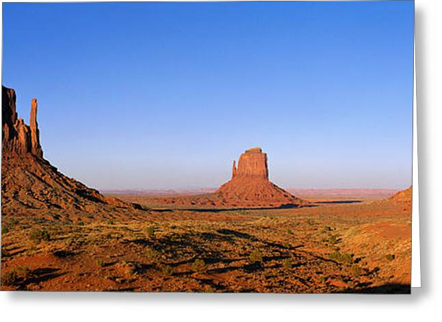 Strength Photographs Greeting Cards - Monument Valley Tribal Park, Navajo Greeting Card by Panoramic Images