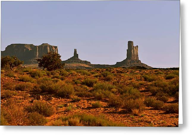 Butte Greeting Cards - Monument Valley - Unusual landscape Greeting Card by Christine Till