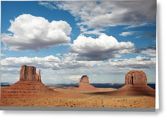 Ss Unites States Greeting Cards - Monument Valley, USA Greeting Card by Science Photo Library
