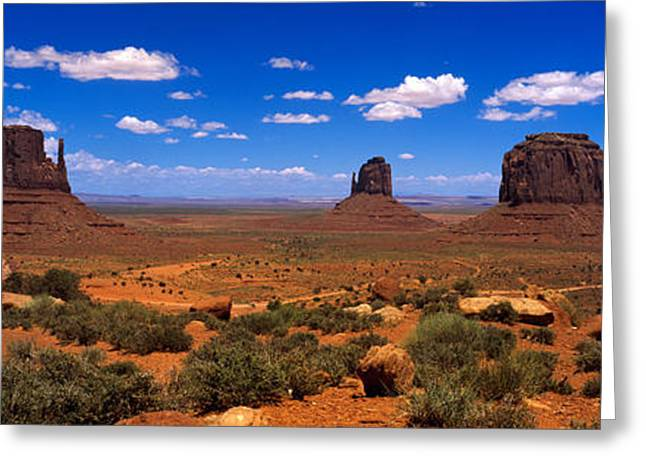 Border Photographs Greeting Cards - Monument Valley Ut \ Az Greeting Card by Panoramic Images