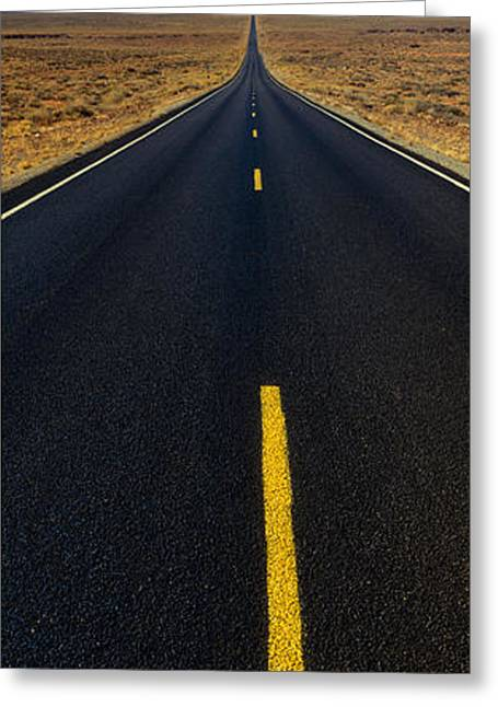 Roadway Greeting Cards - Monument Valley, Utah, Usa Greeting Card by Panoramic Images