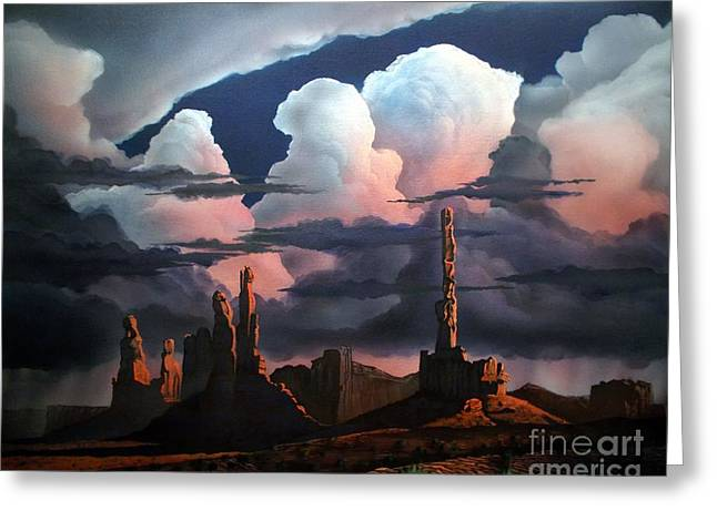 Monolith Greeting Cards - Monumental Monsoon  Greeting Card by Jerry Bokowski