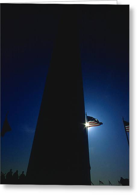Civil Rights Greeting Cards - Monumental Sihouette Greeting Card by Joe  Connors