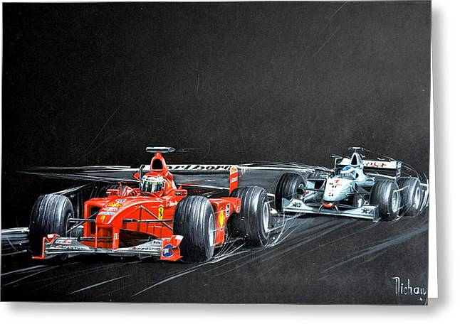 Monza 2000 Greeting Card by MICHAUX Michel
