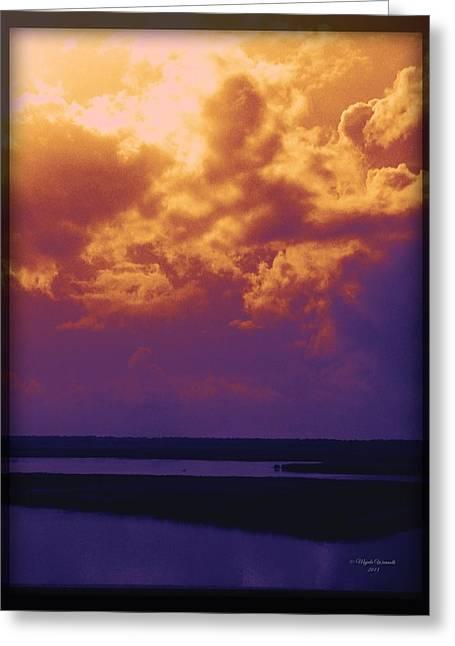 Sea View Greeting Cards - Mood Bayscape Greeting Card by Majula Warmoth