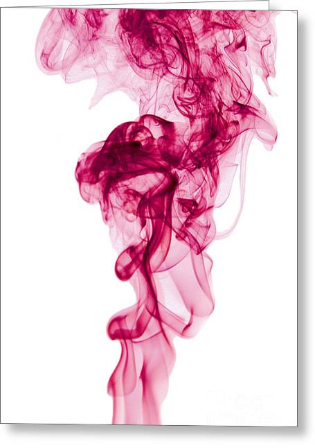 Angels Smoking Greeting Cards - Mood Colored Abstract Vertical Deep Purple Smokel Art 01 Greeting Card by Alexandra K
