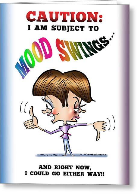 Mood Swings Greeting Card by Mark Armstrong