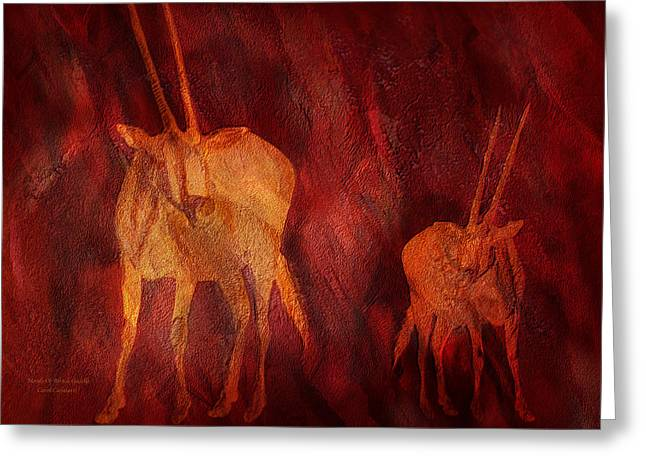 Moods Of Africa - Gazelle Greeting Card by Carol Cavalaris