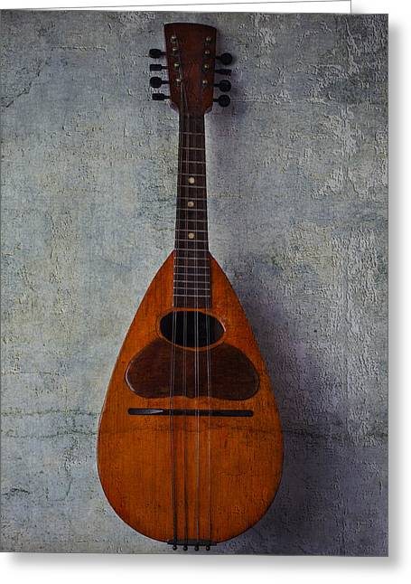 Mandolin Greeting Cards - Moody Mandolin Greeting Card by Garry Gay