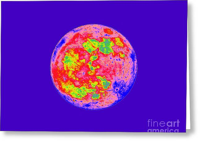 Luna Greeting Cards - Moody Moon Greeting Card by Al Powell Photography USA