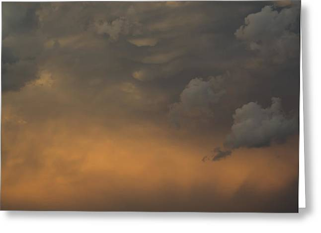 Moody Storm Sky Over Lake Ontario in Toronto Greeting Card by Georgia Mizuleva