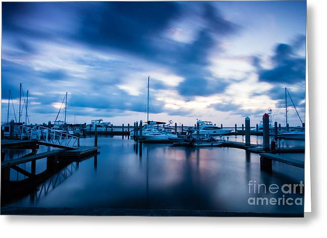 Moody Sunset Greeting Card by Dawna  Moore Photography