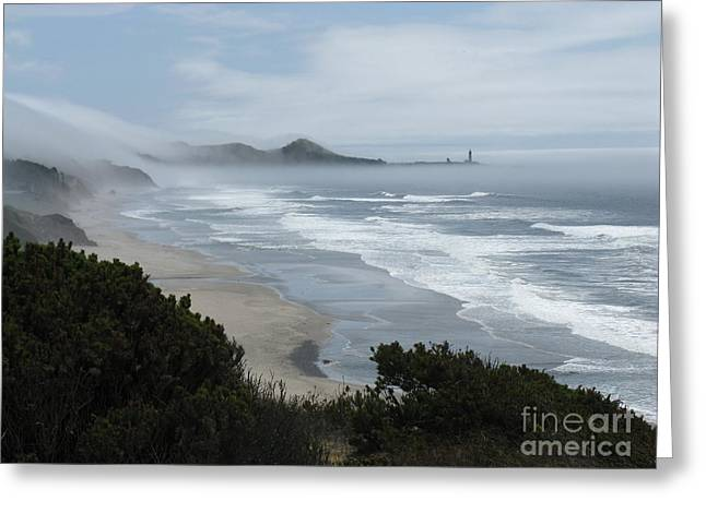 Agate Beach Oregon Greeting Cards - Moolack Marine 001 Greeting Card by DDs Outdoors