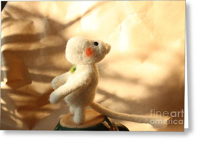 Felting Greeting Cards - Moomin in the forest Greeting Card by Vera Dg