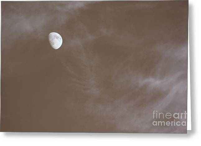 Infared Photography Greeting Cards - Moon and Clouds IR Greeting Card by Paul Ward