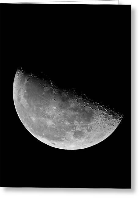 Craters Pyrography Greeting Cards - Moon Greeting Card by Artjom Jatskovski
