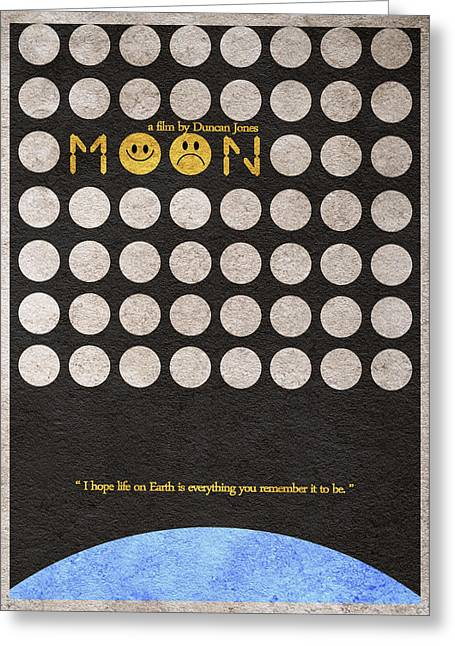 Scifi Greeting Cards - Moon Greeting Card by Ayse Deniz