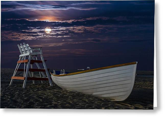 Moon Beach Photographs Greeting Cards - Moon Beach Greeting Card by Paul Tomlin