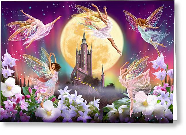 Fantasy Greeting Cards - Moon Dance Greeting Card by Garry Walton